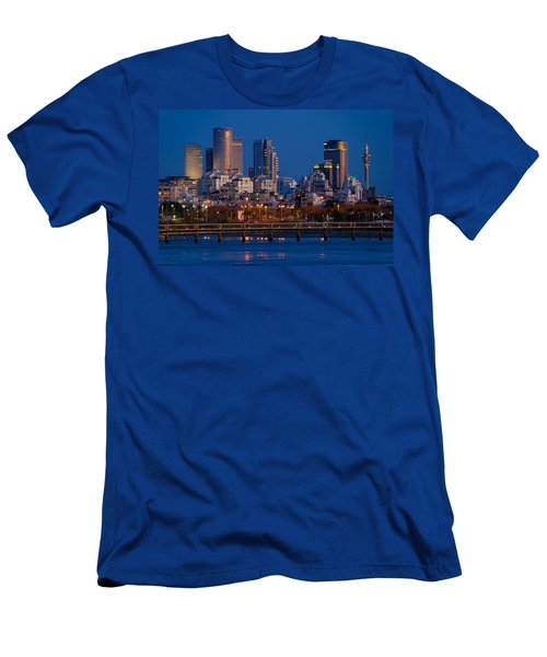 city lights and blue hour at Tel Aviv Men's T-Shirt (Athletic Fit)