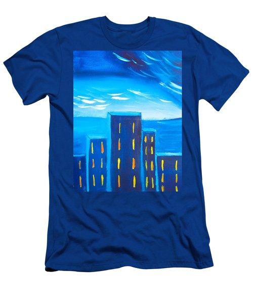 City Men's T-Shirt (Slim Fit) by Joshua Maddison