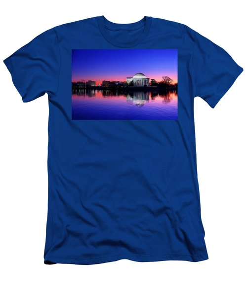 Clear Blue Morning At The Jefferson Memorial Men's T-Shirt (Athletic Fit)