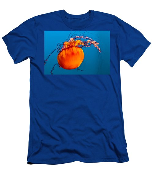 Men's T-Shirt (Slim Fit) featuring the photograph Close Up Of A Sea Nettle Jellyfis by Eti Reid