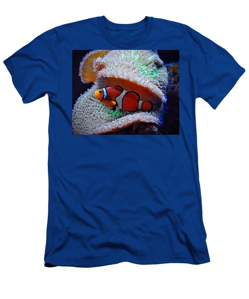 Men's T-Shirt (Slim Fit) featuring the photograph Clown Fish by Savannah Gibbs