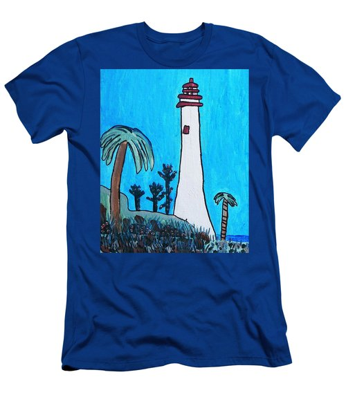 Coastal Lighthouse Men's T-Shirt (Slim Fit) by Artists With Autism Inc