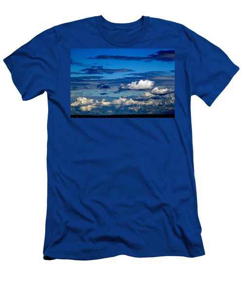 Color Burned Clouds Men's T-Shirt (Athletic Fit)