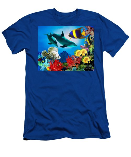 Colorful Fish Men's T-Shirt (Athletic Fit)