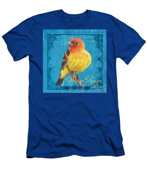 Colorful Songbirds 4 Men's T-Shirt (Athletic Fit)