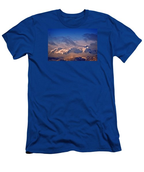 Men's T-Shirt (Slim Fit) featuring the photograph Comox Glacier And Morning Mist by Richard Farrington