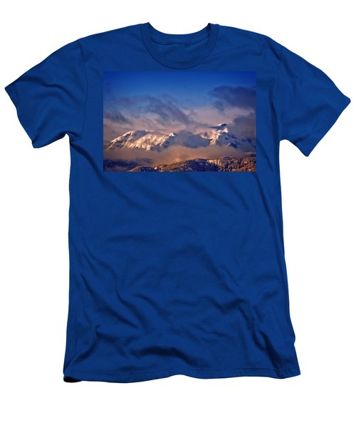 Comox Glacier And Morning Mist Men's T-Shirt (Athletic Fit)
