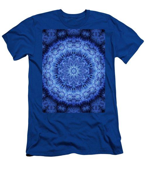 Men's T-Shirt (Slim Fit) featuring the digital art Cool Down Series #2 Frozen by Lilia D