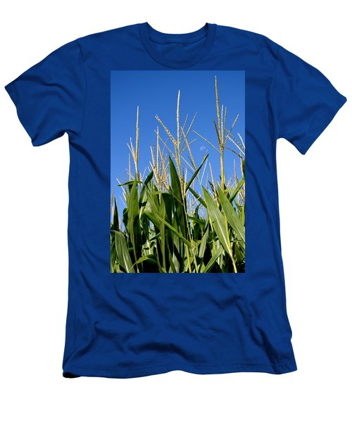 Corn Tassels And Moon Men's T-Shirt (Athletic Fit)