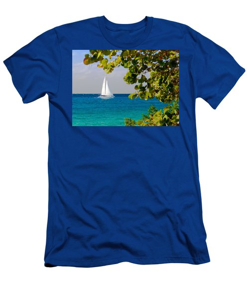 Cozumel Sailboat Men's T-Shirt (Athletic Fit)
