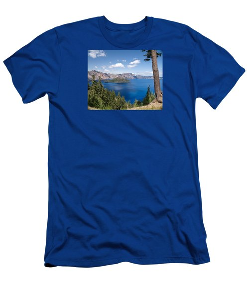 Crater Lake National Park Men's T-Shirt (Slim Fit) by Diane Schuster