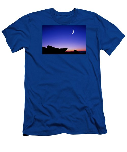 Crescent Moon Halibut Pt. Men's T-Shirt (Slim Fit) by Michael Hubley