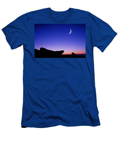 Men's T-Shirt (Athletic Fit) featuring the photograph Crescent Moon Halibut Pt. by Michael Hubley