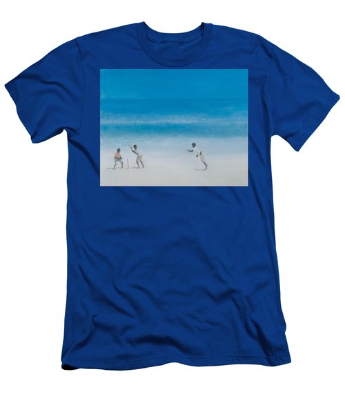 Cricket On The Beach, 2012 Acrylic On Canvas Men's T-Shirt (Athletic Fit)