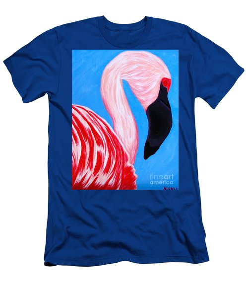 Crimson Flamingo Men's T-Shirt (Slim Fit) by Anita Lewis