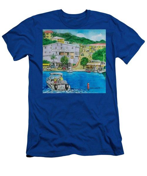 Cruz Bay St. Johns Virgin Islands Men's T-Shirt (Slim Fit) by Frank Hunter