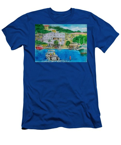 Cruz Bay St. Johns Virgin Islands Men's T-Shirt (Athletic Fit)