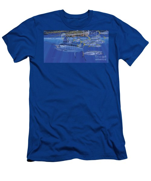 Crystal Blue Off00100 Men's T-Shirt (Athletic Fit)