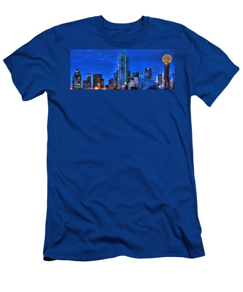 Dallas Skyline Hd Men's T-Shirt (Athletic Fit)