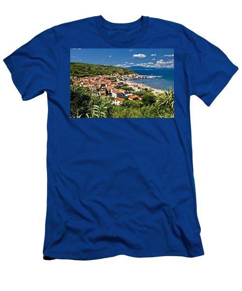 Dalmatian Island Of Susak Village And Harbor Men's T-Shirt (Athletic Fit)