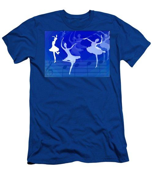 Dance The Blues Away Men's T-Shirt (Slim Fit) by Joyce Dickens