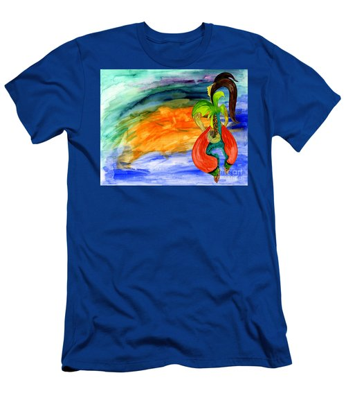 Men's T-Shirt (Slim Fit) featuring the painting Dancing Tree Of Life by Mukta Gupta