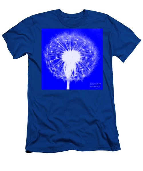 Men's T-Shirt (Athletic Fit) featuring the digital art Dandylion Blue by Clayton Bruster