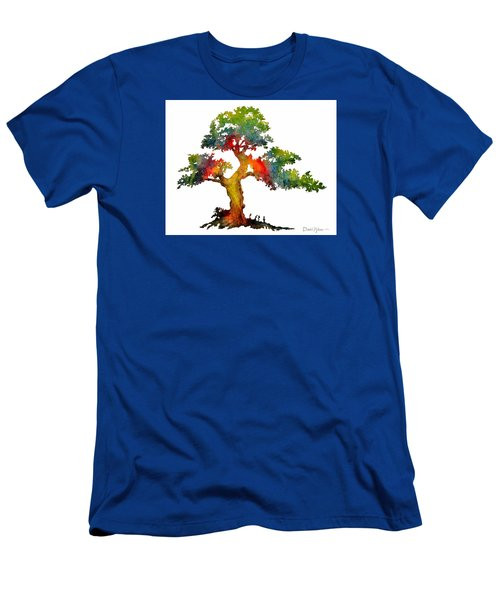 Da140 Rainbow Tree Daniel Adams Men's T-Shirt (Athletic Fit)