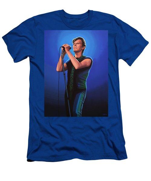 David Bowie 2 Painting Men's T-Shirt (Athletic Fit)