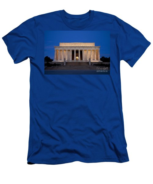 Men's T-Shirt (Athletic Fit) featuring the photograph Dawn At Lincoln Memorial by Brian Jannsen