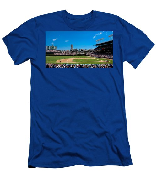 Day Game At Wrigley Field Men's T-Shirt (Slim Fit) by Anthony Doudt