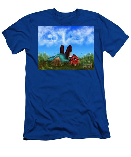 Men's T-Shirt (Slim Fit) featuring the digital art Daydreaming by Rosa Cobos