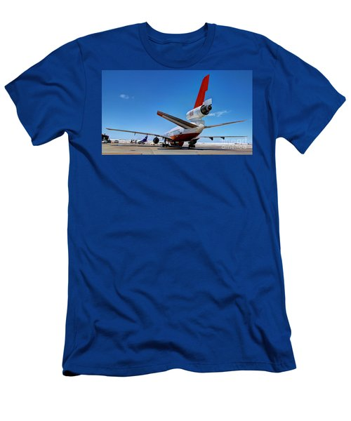 Men's T-Shirt (Slim Fit) featuring the photograph Dc-10 Air Tanker  by Bill Gabbert