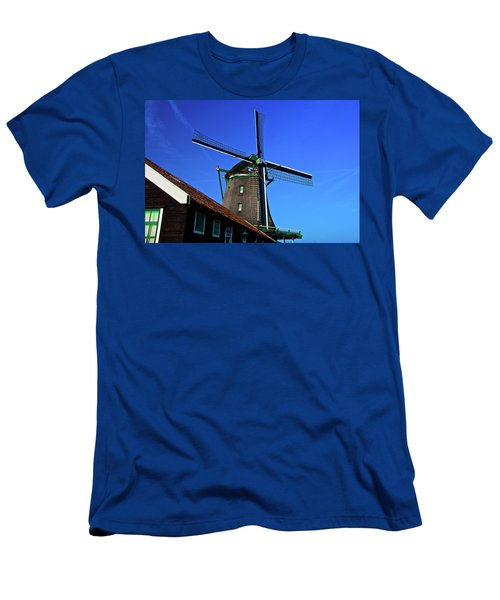 Men's T-Shirt (Slim Fit) featuring the photograph De Zoeker Blue Skies by Jonah  Anderson