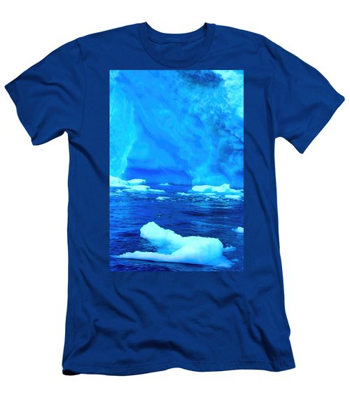 Men's T-Shirt (Slim Fit) featuring the photograph Deep Blue Iceberg by Amanda Stadther