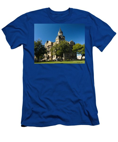 Denton County Courthouse Men's T-Shirt (Athletic Fit)