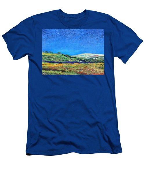 Derbyshire Landscape, 1999 Oil On Board Men's T-Shirt (Athletic Fit)