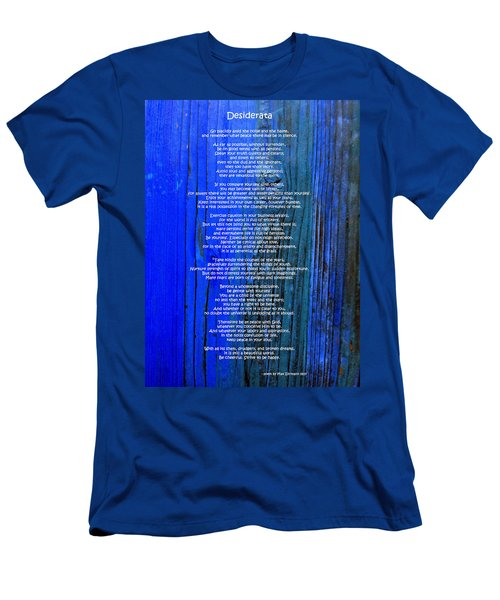 Desiderata On Blue Men's T-Shirt (Athletic Fit)