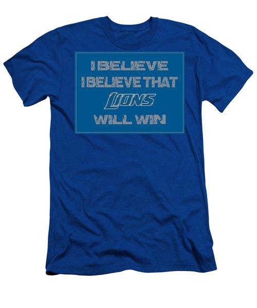 Detroit Lions I Believe Men's T-Shirt (Athletic Fit)