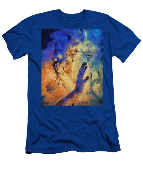 Men's T-Shirt (Slim Fit) featuring the painting Discovering Yourself by Joe Misrasi