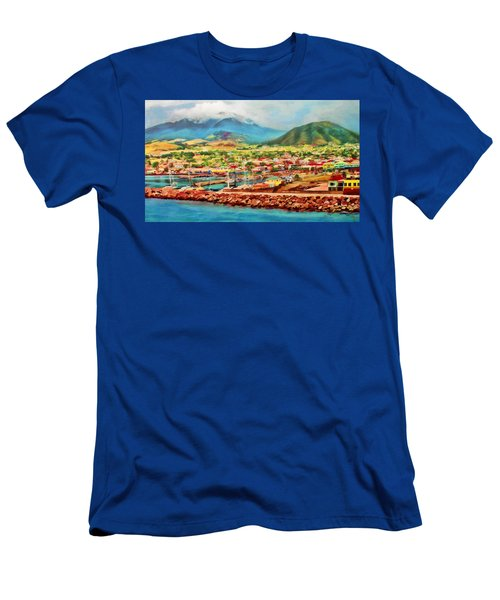 Docked In St. Kitts Men's T-Shirt (Athletic Fit)