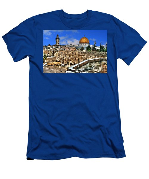 Men's T-Shirt (Slim Fit) featuring the photograph Dome Of The Rock by Doc Braham