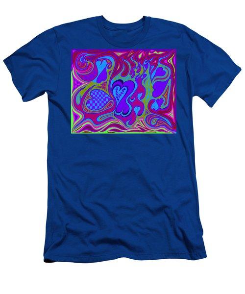 Double Broken Heart Men's T-Shirt (Athletic Fit)