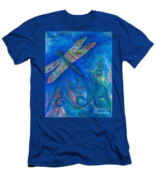 Dragonfly Flying High Men's T-Shirt (Slim Fit) by Denise Hoag