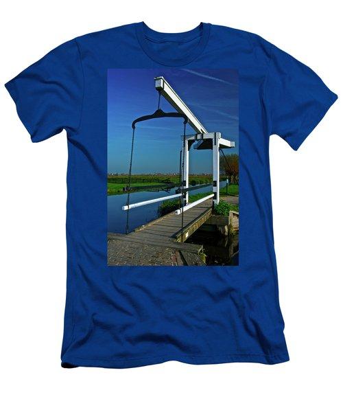 Men's T-Shirt (Slim Fit) featuring the photograph Drawbridge At Zaanse Schans by Jonah  Anderson