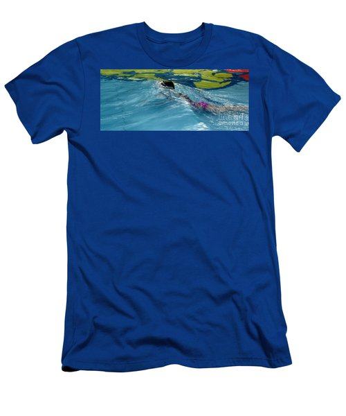 Ducking Under A Wave In A Pool Men's T-Shirt (Athletic Fit)