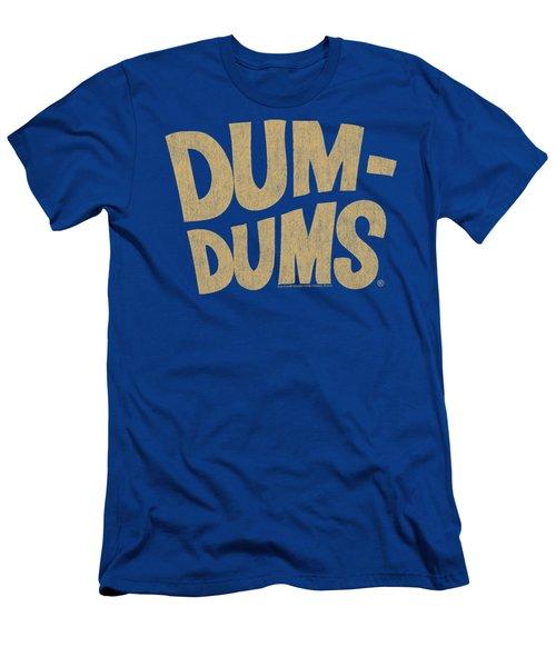 Dum Dums - Distressed Logo Men's T-Shirt (Athletic Fit)