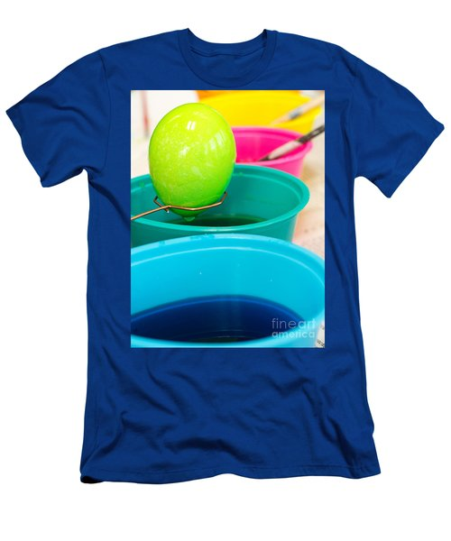 Dying Easter Eggs Men's T-Shirt (Athletic Fit)