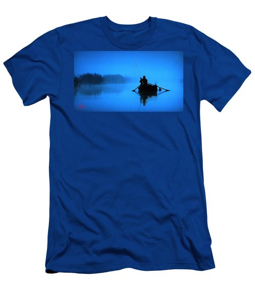Early Morning Fishing  Men's T-Shirt (Athletic Fit)