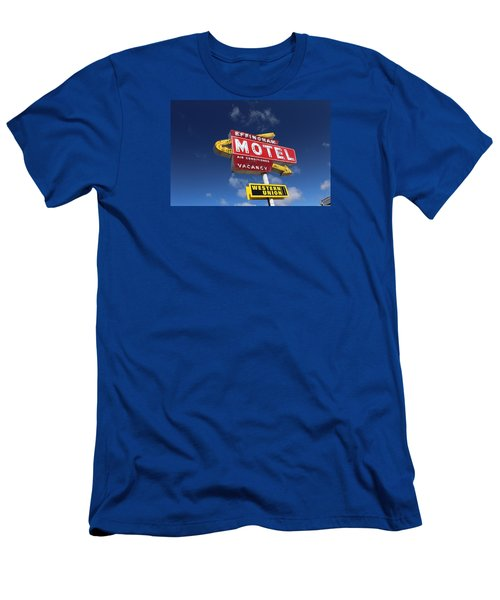 Effingham Motel Men's T-Shirt (Slim Fit) by Suzanne Lorenz